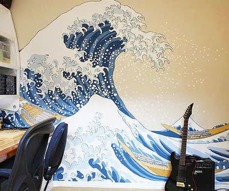 The Great Wave Off Kanagawa Mural