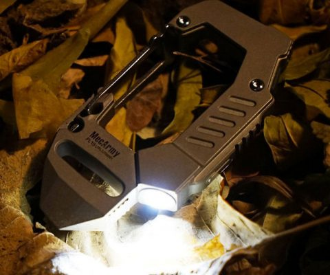 Titanium Carabiner Flashlight