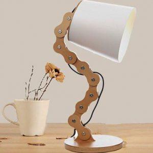 Wood Chain Table Lamp