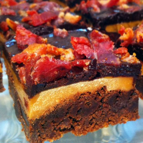 Bacon Caramel Brownies