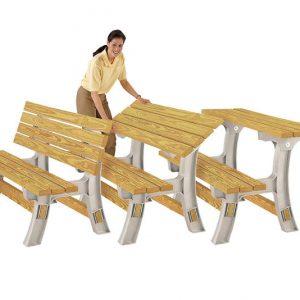 Flip Top Convertible Bench/Table