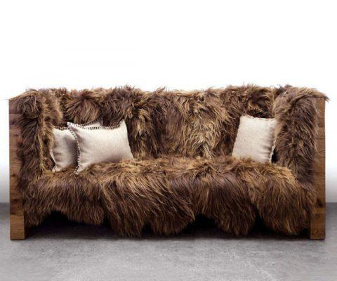 Icelandic Wool Chewbacca Sofa