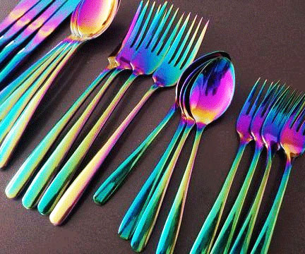 Iridescent Rainbow Utensils