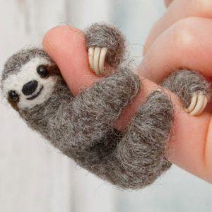 Mini Sloth Felt Jewelry
