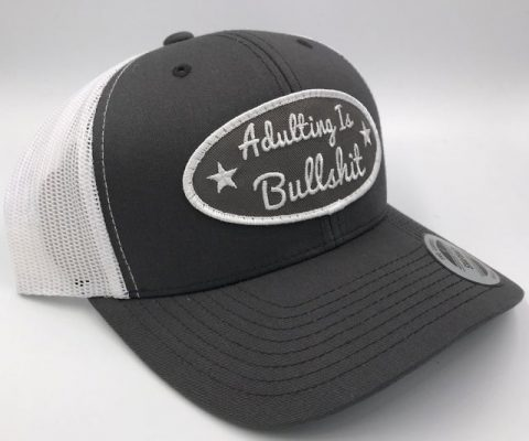 Adulting Is B.S. Snapback Hat