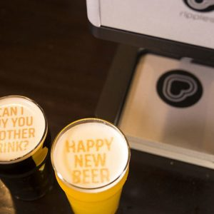 Beer Foam Message Printer