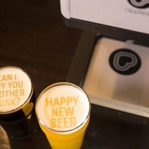 Beer Foam Message Printer