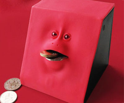 Creepy Coin Eating Bank