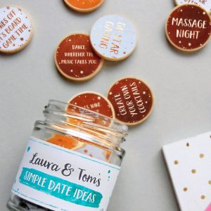 Date Ideas Personalized Jar