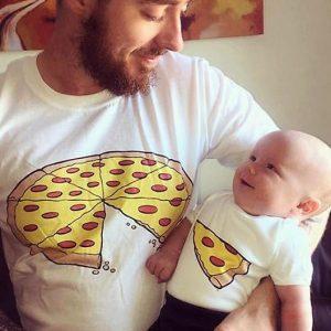 Father & Son Matching Pizza Shirts