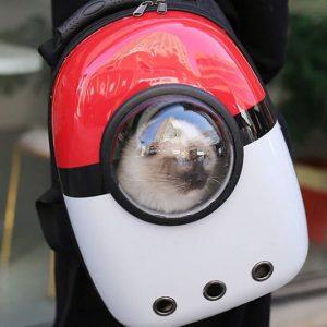 Pokemon Poke Ball Pet Carrier Backpack