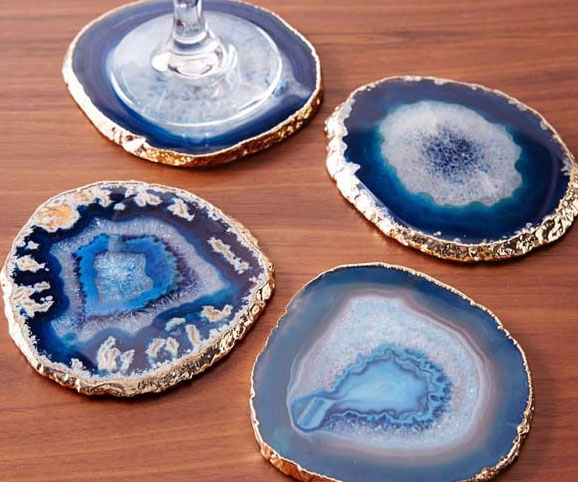 Sliced Agate Drink Coasters