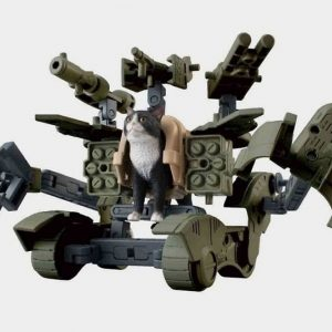 Weaponized Mech Suit Cat Action Figure