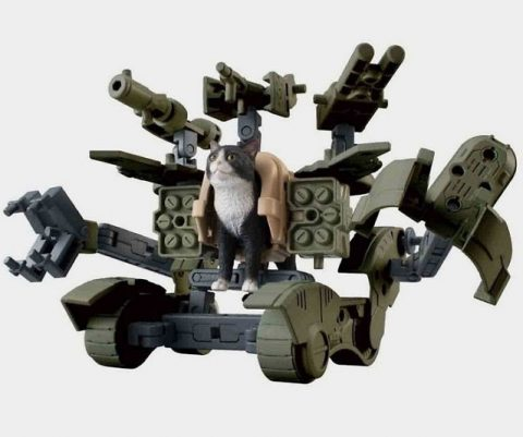 Weaponized Mech Suit Cat Action Figure