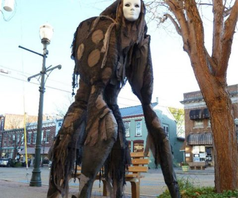 4-Legged Stilt Spirit Costume
