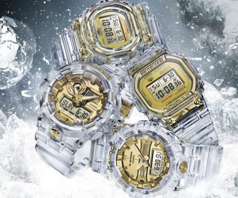 Casio G-Shock Skeleton Gold Watch
