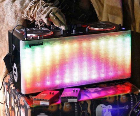 LED Light Show Portable DJ Mixer