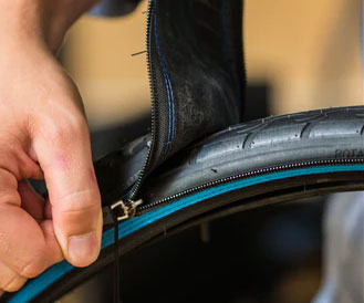 Zip-On Bicycle Tire System