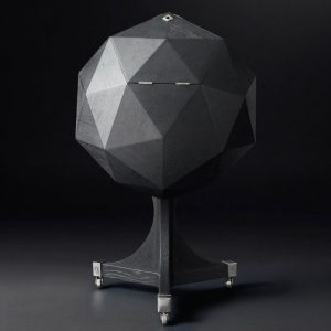 Sculptural Polyhedron Bar Cart