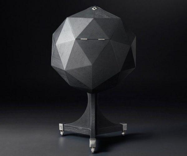 Sculptural Polyhedron Bar Cart
