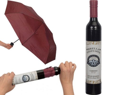 Cabernet Wine Bottle Hidden Umbrella