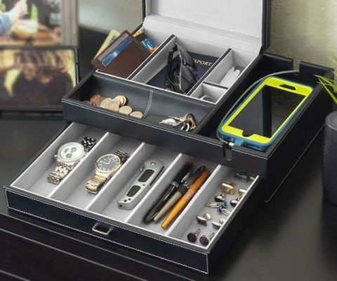 Men's Valet Organizer Box