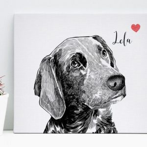 Custom Pet Canvas Portraits