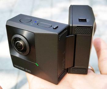 Foldable 3D 360 Degree Camera