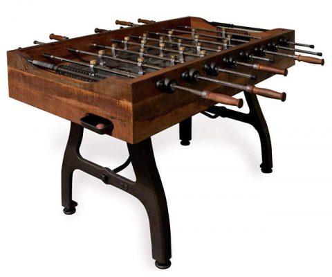 Reclaimed Wood Iron Foosball Table