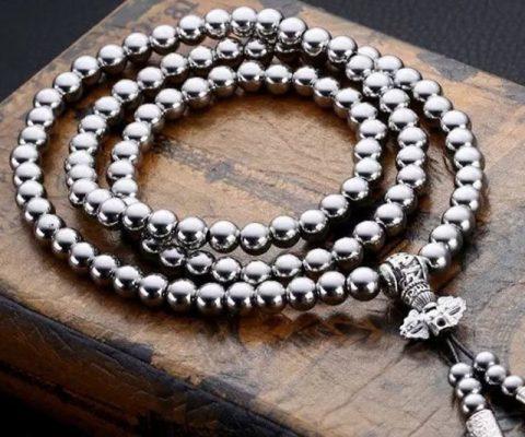 Self Defense Buddha Beads Necklace