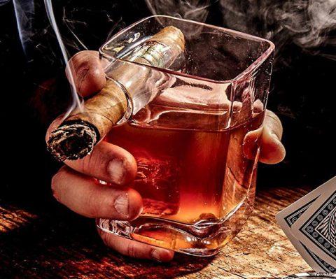 Cigar Holding Glass
