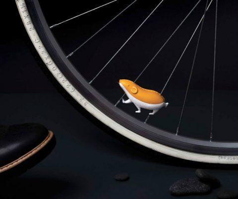 Reflective Hamster Bike Spoke Accessory
