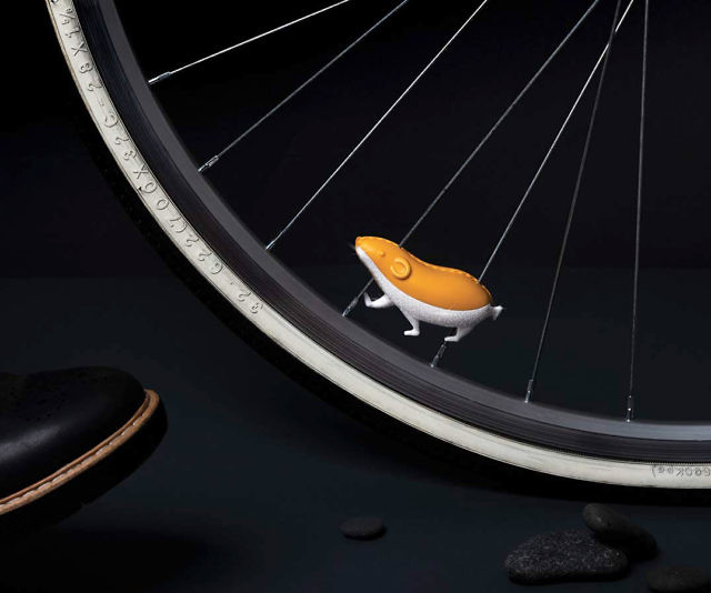 Reflective Hamster Bike Spoke Accessory
