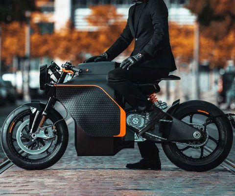 Carbon Fiber Electric Motorcycle