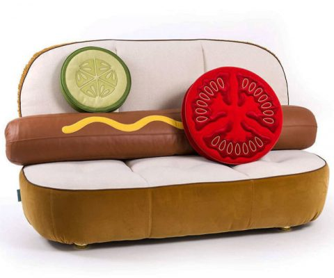 The Hot Dog Sofa