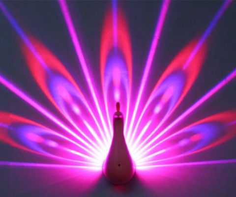 Peacock Projection Light