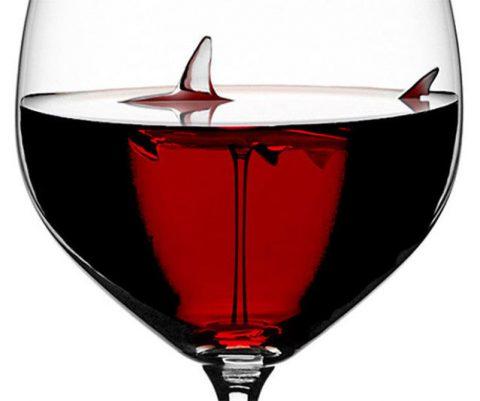 The Shark Wine Glass