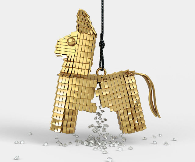 18k Gold Diamond-Filled Pinata
