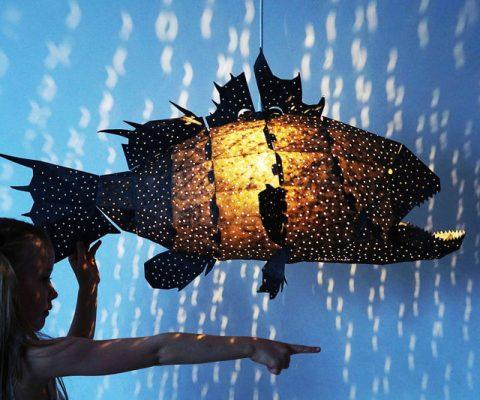 Giant Lapu Lapu Origami Lamp