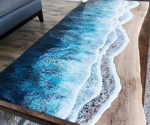 Ocean Waves Coffee Table