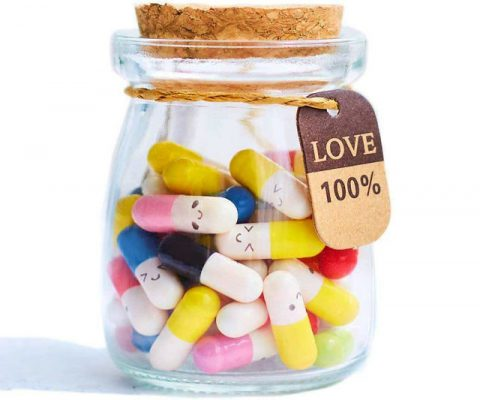 Smiling Face Message in a Bottle Capsules