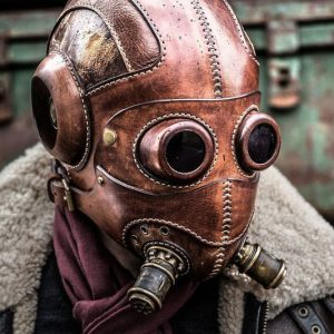 Dust Angel Steampunk Leather Mask