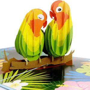 Lovebirds Pop-Up Card