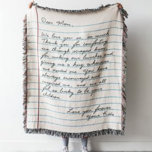Personalized Mother's Day Letter Blanket