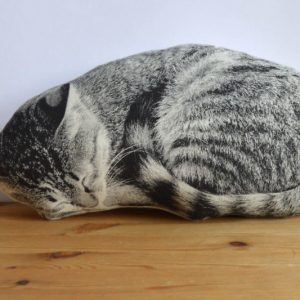 Plush Sleeping Cat Pillow
