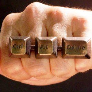 Ctrl-Alt-Delete Brass Knuckles
