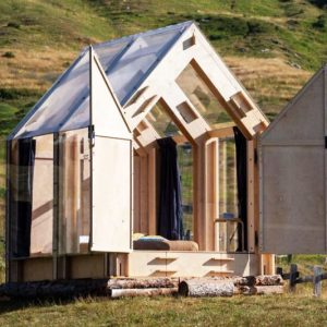 The Transparent Tiny Cabin