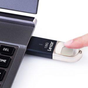 Lexar Fingerprint Scanning Flash Drive