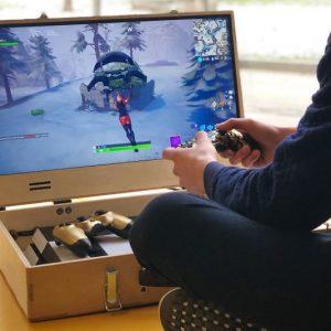 Wooden Briefcase Portable Gaming Case