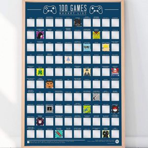 100 Must Play Games Scratch-Off Poster